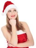 俏丽的圣诞节女孩 免版税库存照片