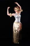 俏丽的女孩跳舞 免版税库存图片