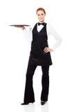 俏丽的女服务员 免版税库存图片