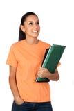 俏丽的学员女孩 免版税库存图片