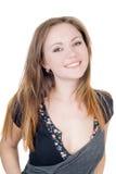 俏丽的微笑的妇女年轻人 免版税库存照片