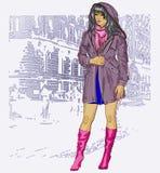 俏丽的时尚女孩 免版税库存图片