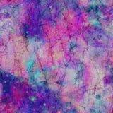 俏丽的星系波斯菊大理石作用印刷品 向量例证
