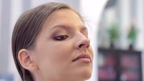 年轻俏丽的模型有完成的眼睛的构成 影视素材