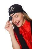 俏丽的海盗女孩 库存图片