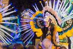 俏丽的狂欢节妇女 免版税库存照片