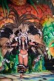 俏丽的狂欢节妇女 免版税库存图片
