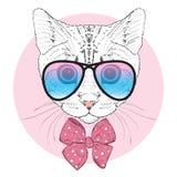 俏丽的猫 向量例证