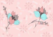 俏丽的花背景 图库摄影