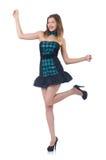 年轻俏丽的跳舞妇女 免版税库存图片