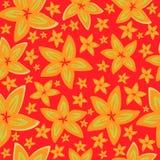 俏丽的雏菊花卉图案无缝的背景 库存例证