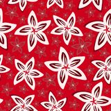 俏丽的雏菊花卉图案无缝的背景 皇族释放例证