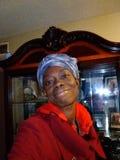 俏丽的黑人可爱的妇女 免版税库存图片