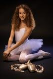 俏丽芭蕾学生微笑 免版税库存图片