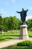 保佑基督的雕塑在琥珀色的博物馆前在帕兰加,立陶宛 免版税库存图片