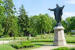 保佑基督的雕塑在琥珀色的博物馆前在帕兰加, Lithua 库存图片