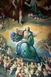 保佑的圣女玛丽亚的做法 库存照片