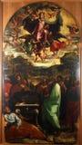 保佑的圣女玛丽亚的做法 库存图片
