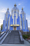 保佑的圣女玛丽亚的寺庙 库存照片