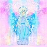 保佑的圣女玛丽亚 免版税库存照片
