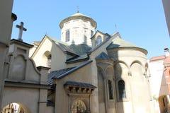 保佑的圣母玛丽亚的做法的亚美尼亚大教堂 市利沃夫州 乌克兰 免版税库存图片