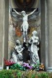 保佑的圣母玛丽亚的圣母无染原罪瞻礼的教会的雕塑 免版税库存图片