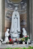 保佑的圣母玛丽亚的圣母无染原罪瞻礼的教会的雕塑 库存照片