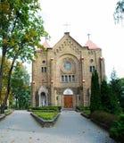 保佑的圣母玛丽亚的圣母无染原罪瞻礼的教会 库存图片