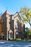 保佑的圣母玛丽亚的圣母无染原罪瞻礼的教会 免版税库存照片