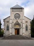 保佑的圣母玛丽亚的圣母无染原罪瞻礼的罗马天主教堂的大厦在市雅尔塔 免版税库存照片