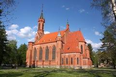 保佑的圣母玛丽亚的教会在德鲁斯基宁凯 立陶宛 图库摄影