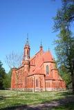 保佑的圣母玛丽亚的教会在德鲁斯基宁凯 立陶宛 库存图片