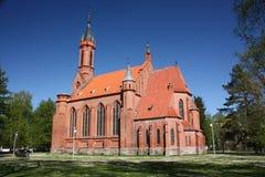 保佑的圣母玛丽亚的教会在德鲁斯基宁凯 立陶宛 免版税库存照片