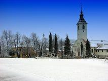 保佑的圣母玛丽亚的教会Trsat的在力耶卡,克罗地亚 库存图片