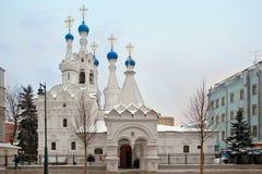 保佑的圣母玛丽亚的诞生的寺庙 莫斯科, Russi 免版税图库摄影