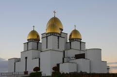 保佑的圣母玛丽亚的诞生的教会的圆顶 库存照片