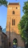 保佑的圣母玛丽亚,华沙的访问的教会塔  免版税库存图片