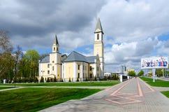 保佑的圣母玛丽亚,戈梅利,白俄罗斯诞生教会  库存照片