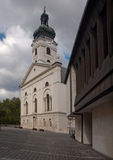 保佑的大教堂gyor玛丽贞女 免版税库存图片