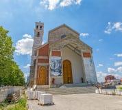 保佑的真福加尔各答的德肋撒大教堂在普里什蒂纳 免版税库存照片