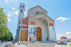 保佑的真福加尔各答的德肋撒大教堂在普里什蒂纳 库存图片