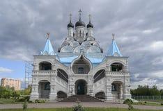 保佑的维尔京的通告的教会, Taininskoye 库存图片