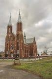保佑的耶稣心脏罗马天主教堂在Liksna 库存照片