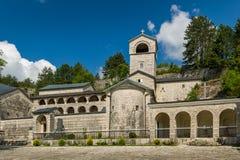 保佑的采蒂涅老修道院诞生  库存照片