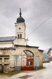 保佑的维尔京的做法教会在特拉夫尼克 达成协议波斯尼亚夹子色的greyed黑塞哥维那包括专业的区区映射路径替补被遮蔽的状态周围的领土对都市植被 库存照片