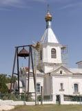 保佑的维尔京的诞生的教会在K村庄  库存图片