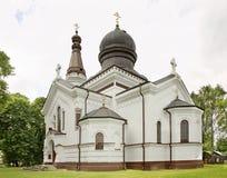 保佑的维尔京的诞生的教会在Wlodawa 波兰 免版税图库摄影