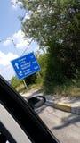 保加利亚交通标志 库存图片