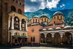 保加利亚修道院rila 免版税库存照片