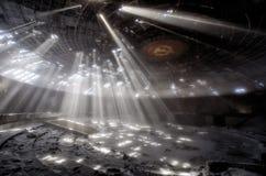 光芒在Buzludzha 库存图片